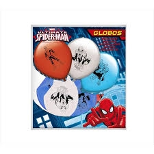 8 GLOBOS SPIDERMAN VERBETENA