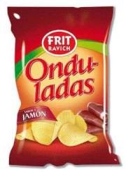 PATATAS FRITAS ONDULADAS JAMON 40GR