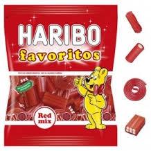 MILE FAVORITO RED MIX 18U HARIBO