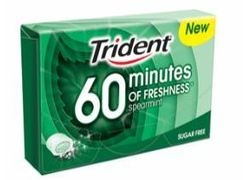 CHICLES TRIDENT 60 MINUTES HIERBABUENA 16U