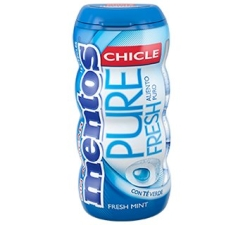CHICLES MENTOS GUM AZUL 10U