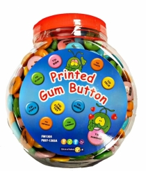 CHICLES BUTTON GUM FRASES 300 U