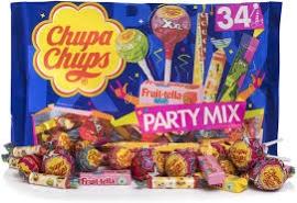 PARTY MIX 1U 20  400GR CHUPS EXPO