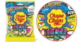 SOUR TUBES 1U 18  150GR CHUPS EXPO