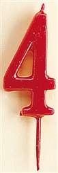 VELA ROJA Nº4  1U(12) DEKORA