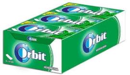 CHICLES ORBIT TAB HIERBABUENA 12U