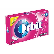 CHICLES ORBIT TAB SABOR CHICLE 12U