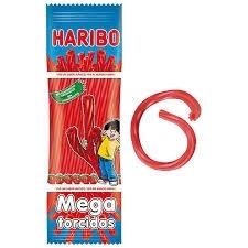 MILE TORCIDAS FRESA 18 80GR HARIBO