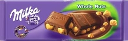 TABLETA MILKA WHOLE NUTS